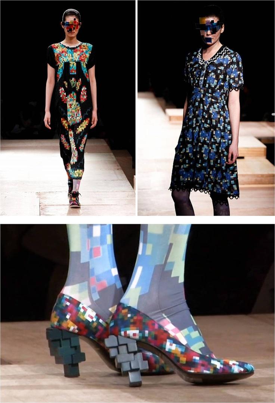 Estampa Pixelada Estilista Tokyo Fashion Week
