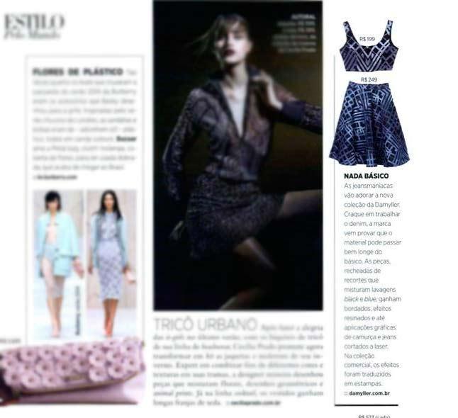 Damyller Jeans na Revista Bazaar Brasil