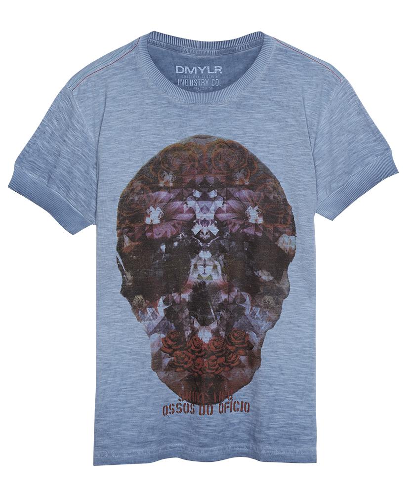 T-shirt com estampa de caveira mexicana - Damyller