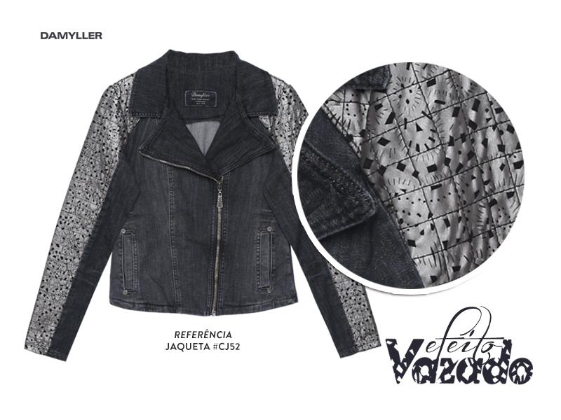 Clique aqui e compre sua jaqueta com efeito vazado!