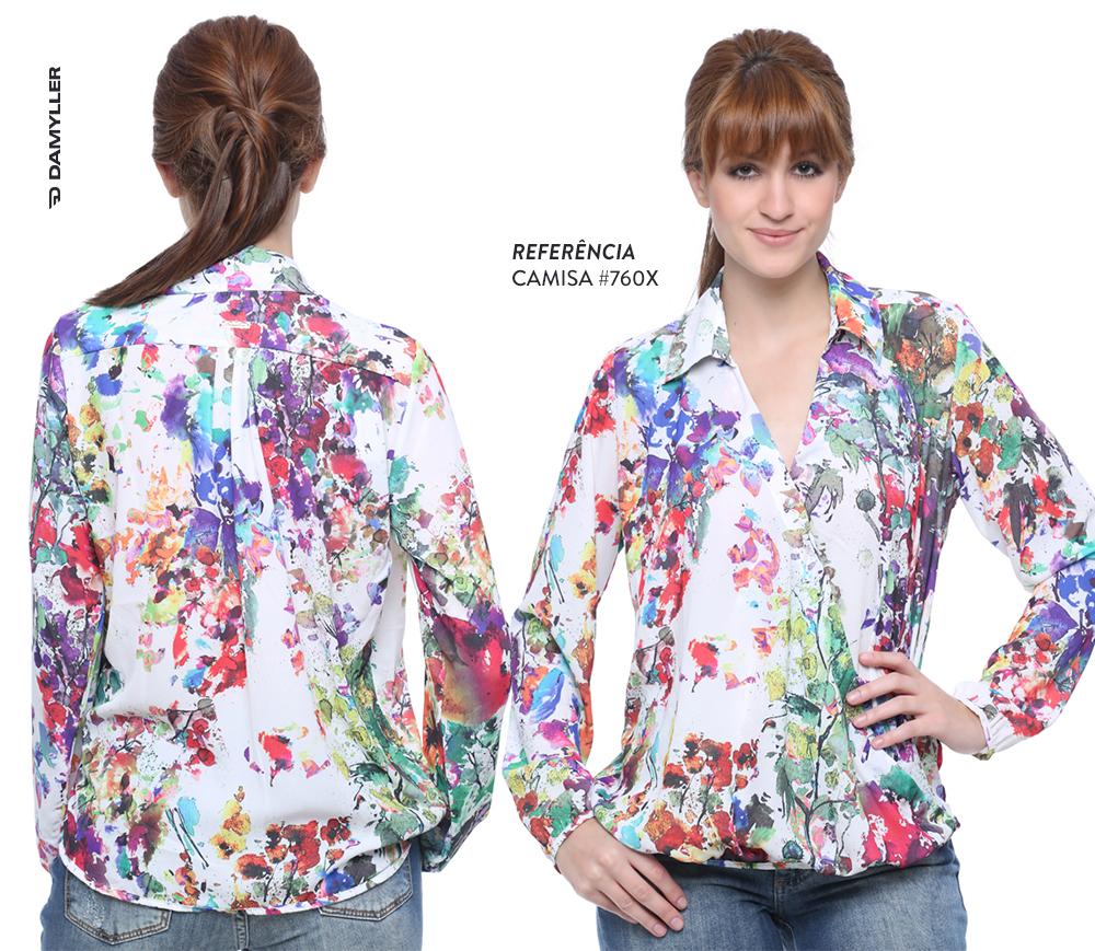 Clique e compre: Camisa de estampa floral