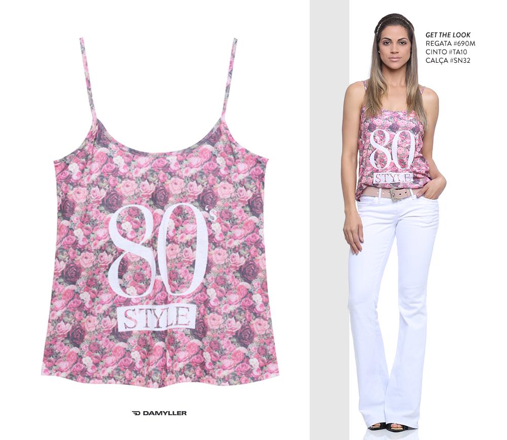 Clique para comprar online: Regata de alcinha com estampa floral!