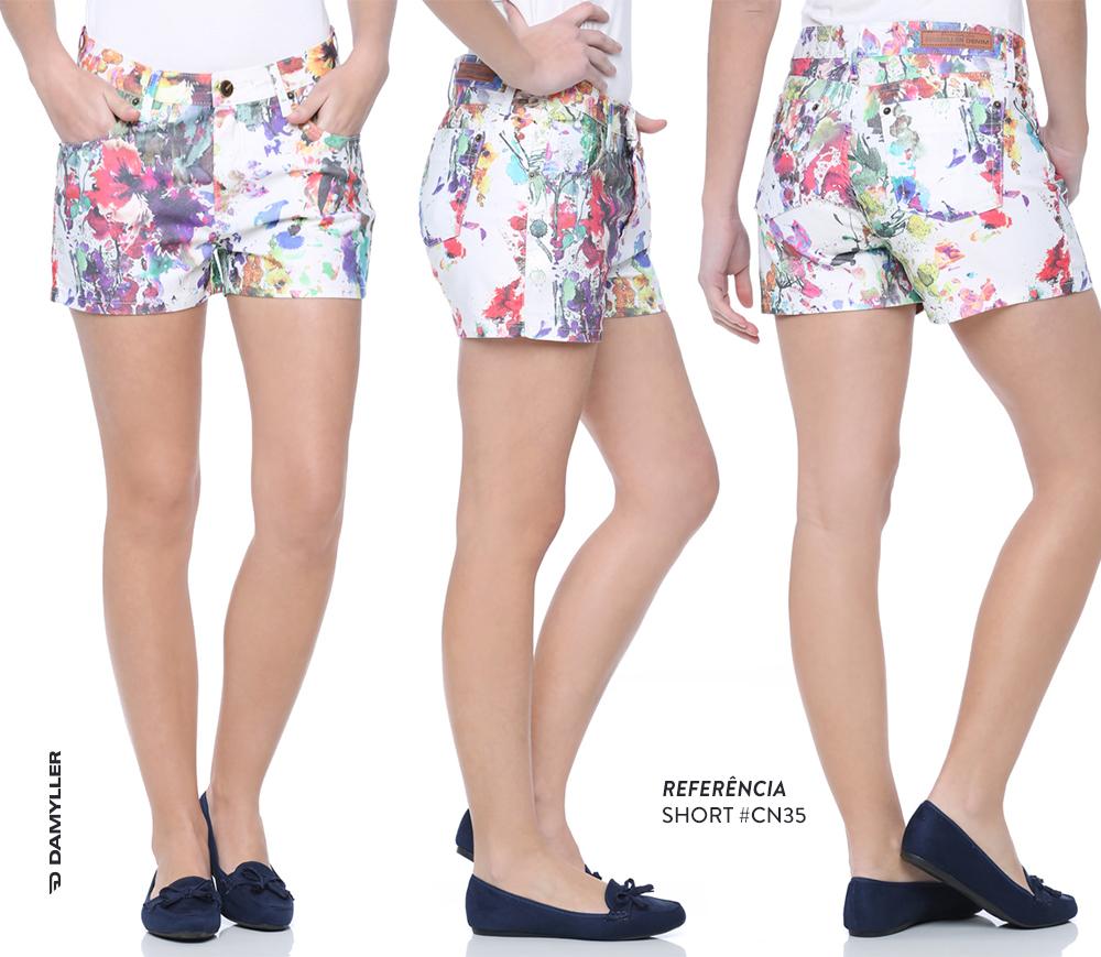 Clique e compre: Short com estampa floral