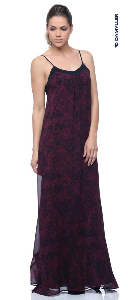 Clique e compre: Vestido longo print geométrico