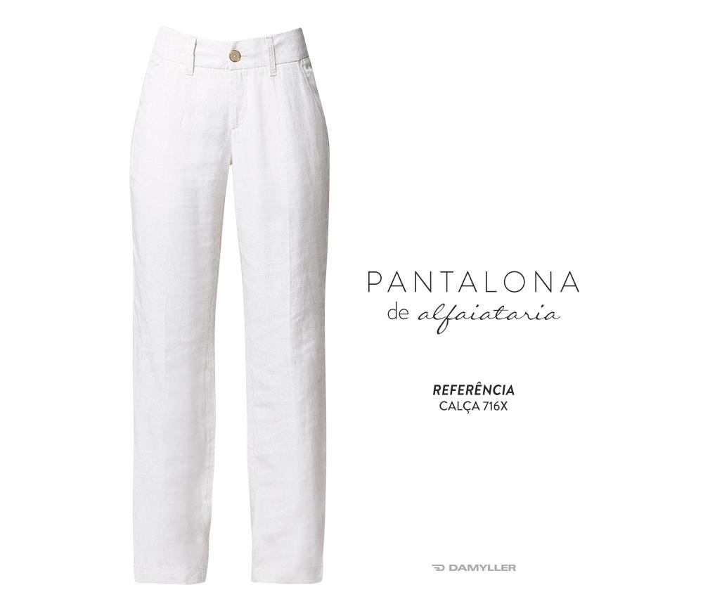 Clique e compre: Calça pantalona alfaiataria Damyller