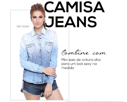 SPFW - Camisa Jeans