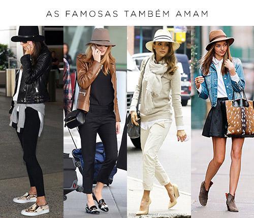 famosas usando chapeu