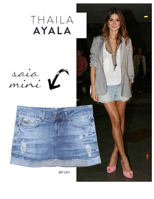 thaila ayala saia jeans mini