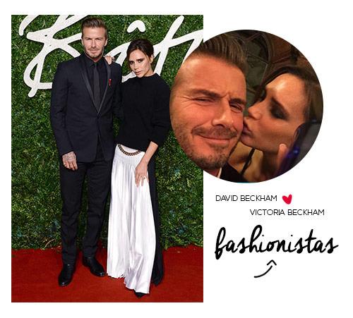 David e Victoria Beckham os fashionistas