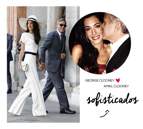 George Clooney e Amal Alamuddin os sofisticados