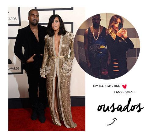 Kanye West e Kim Kardashian West os ousados