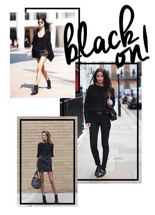 looks roupa preta feminino