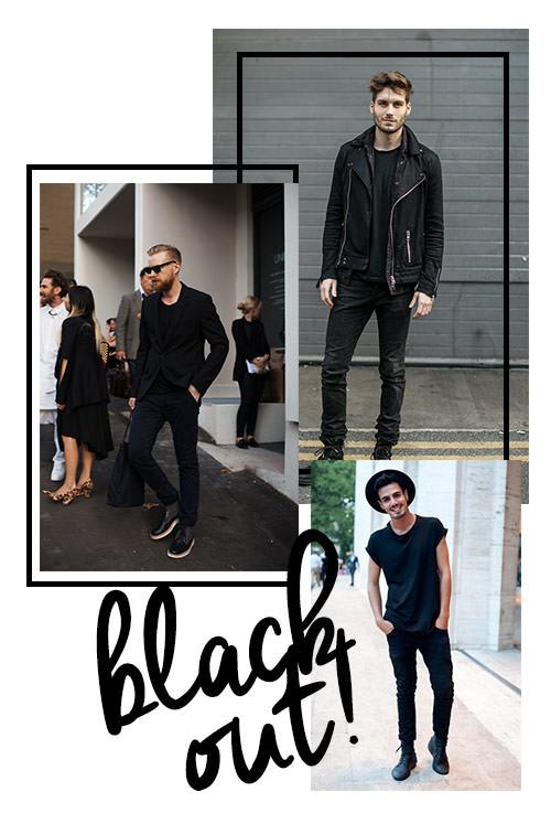 looks com roupa preta masculino