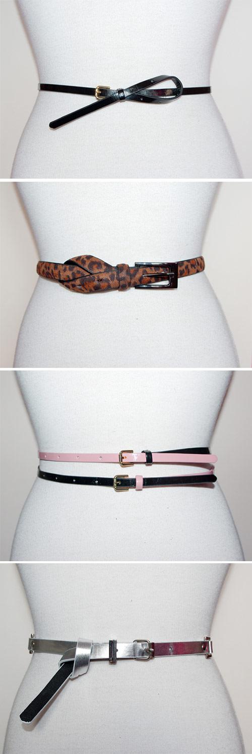 tipos de amarrações de cintos femininos