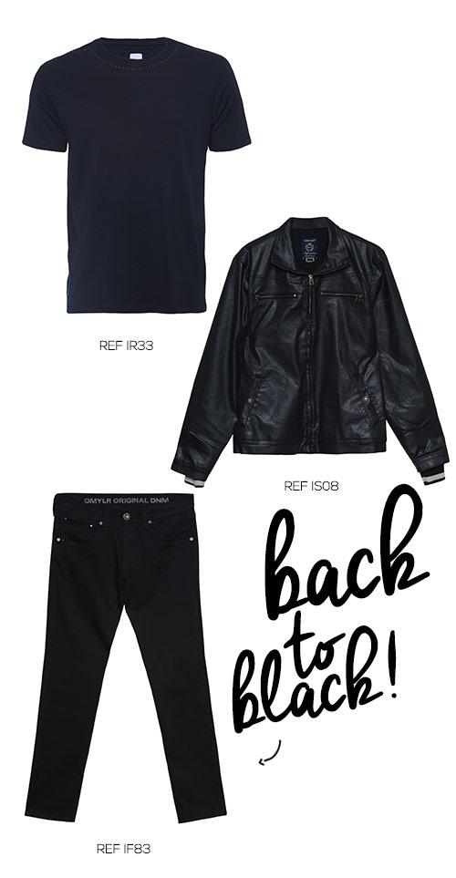 roupas pretas masculinas