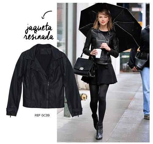 taylor swift com jaqueta resinada