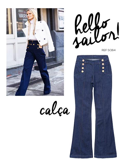 calça jeans navy