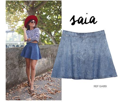 saia jeans navy