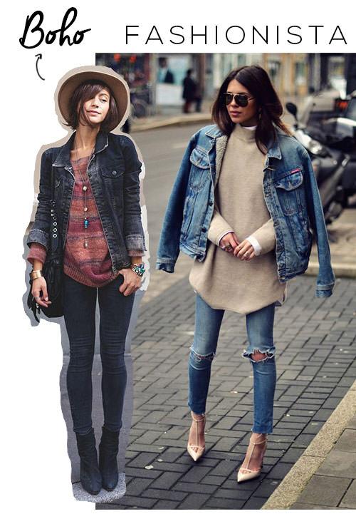 jaqueta jeans boho estilo fashionista