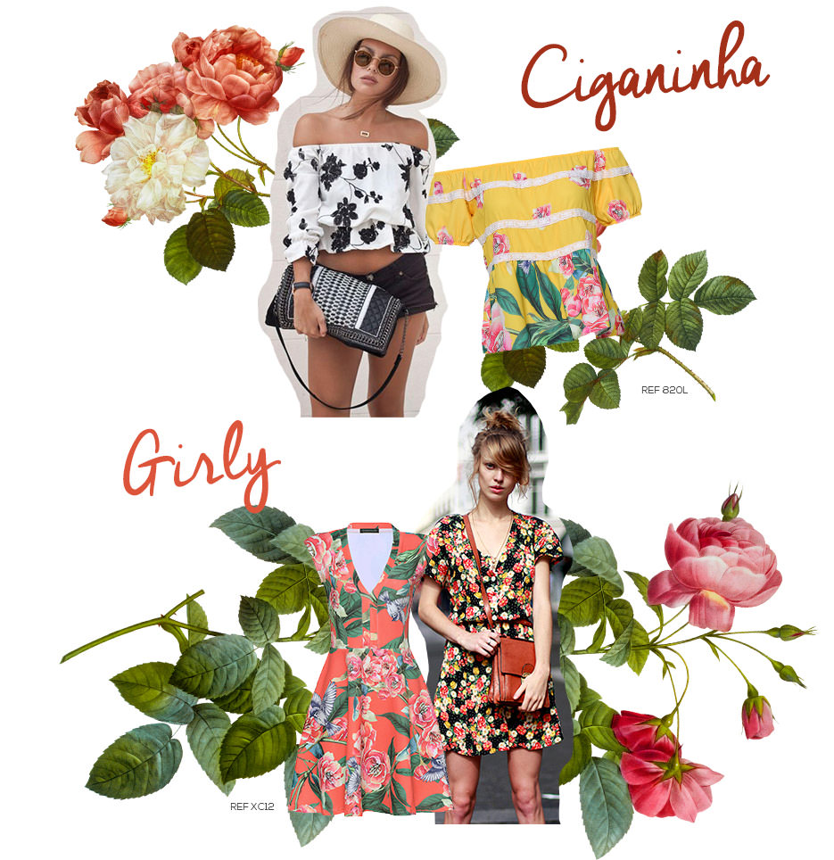 looks com estampa floral