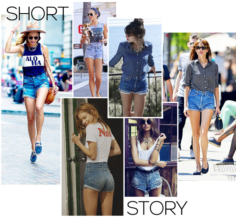 looks street style shorts jeans