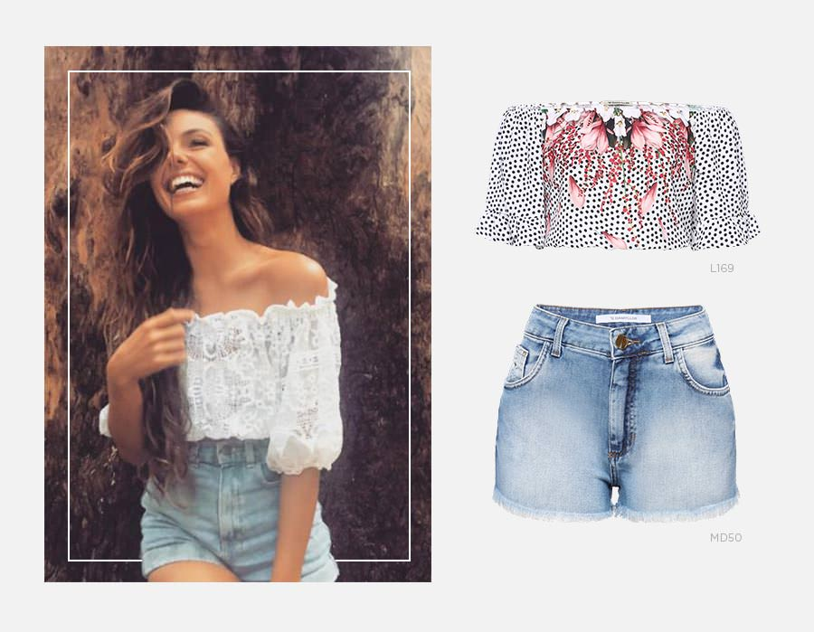 Top cropped e short jeans