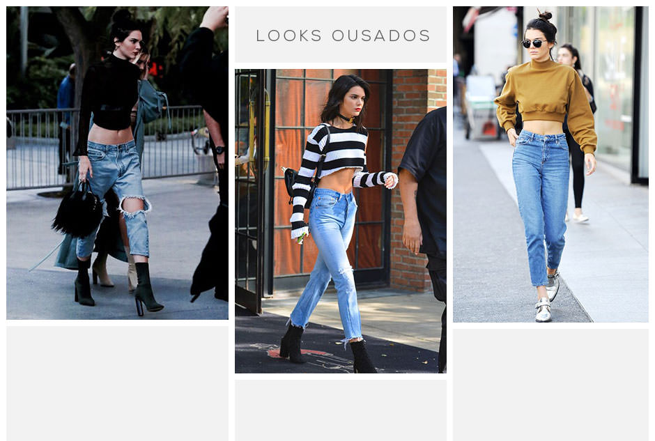 Kendall jenner usando jeans cropped