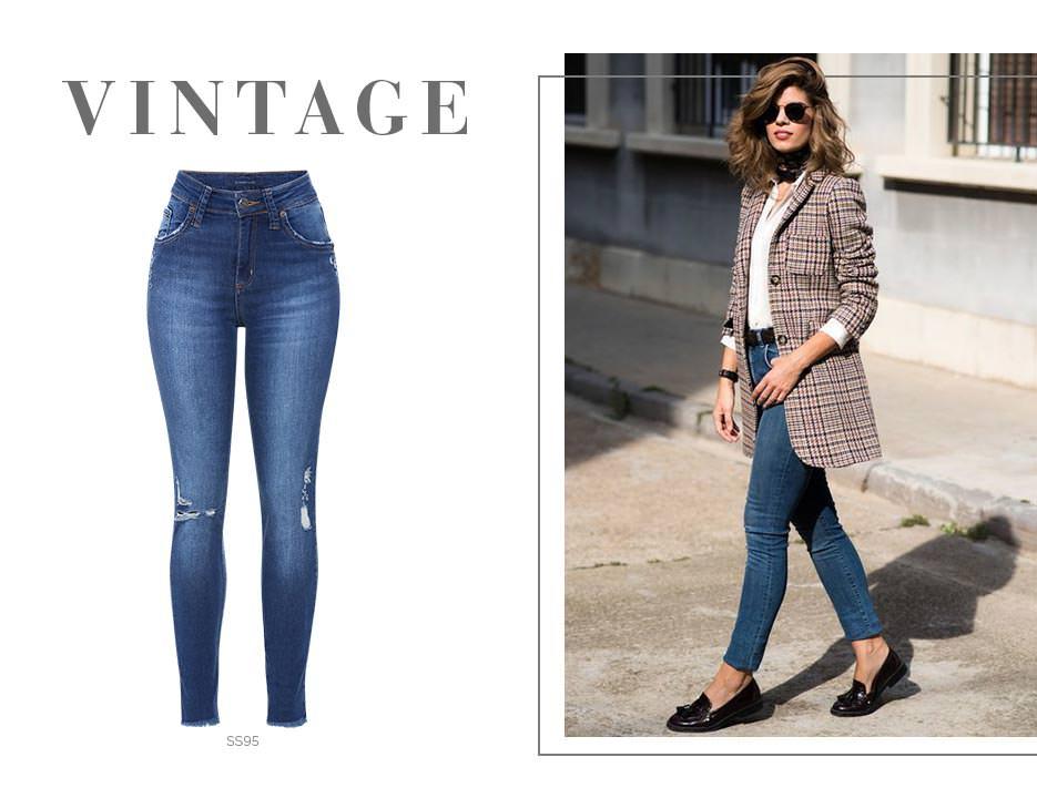 Blazer vintage e jeans