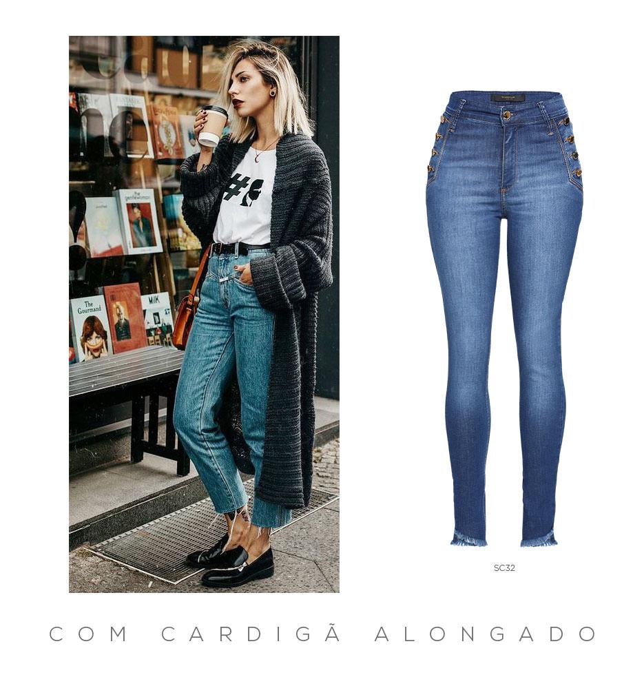 Jeans e cardigã