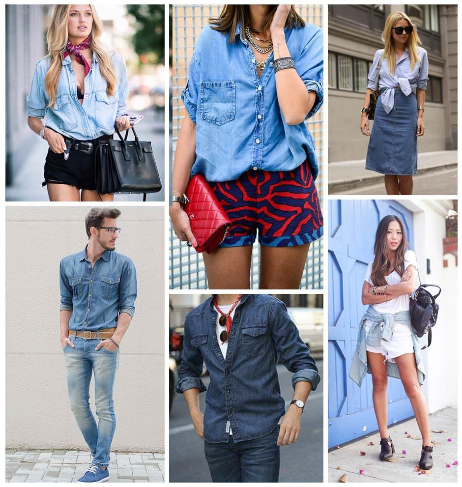 truques de styling com camisa jeans