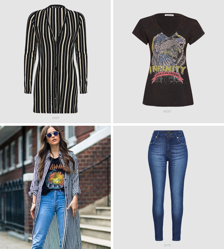 maxi cardigã e jeans