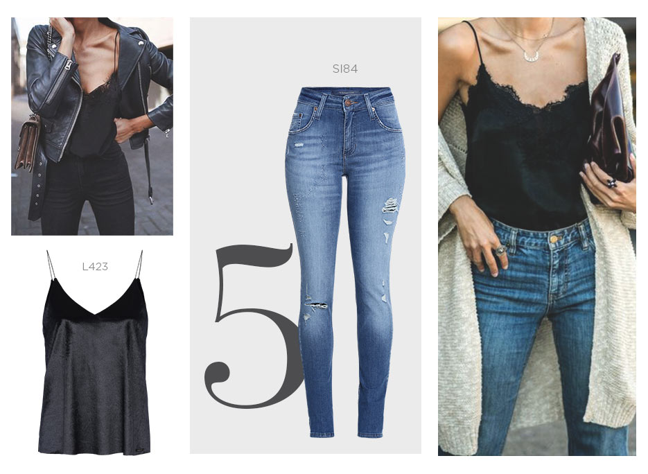 top de alcinha com cropped jeans perfeito para a balada