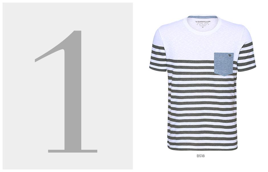 t-shirt navy masculina