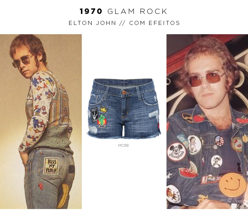 elton john usando jeans