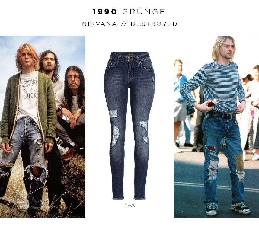 kurt cobain usando jeans