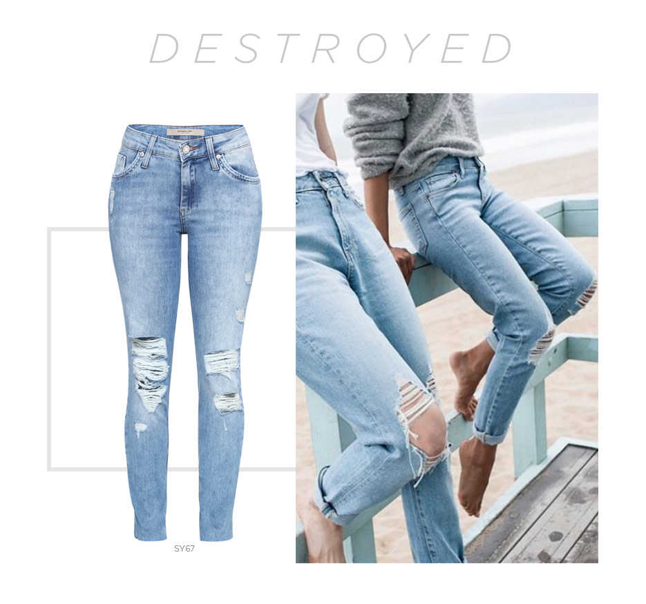 jeans destroyed