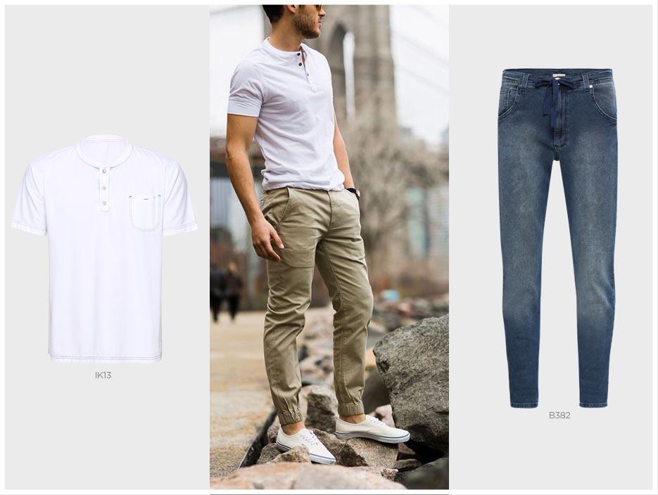 jogger masculina e camiseta basica