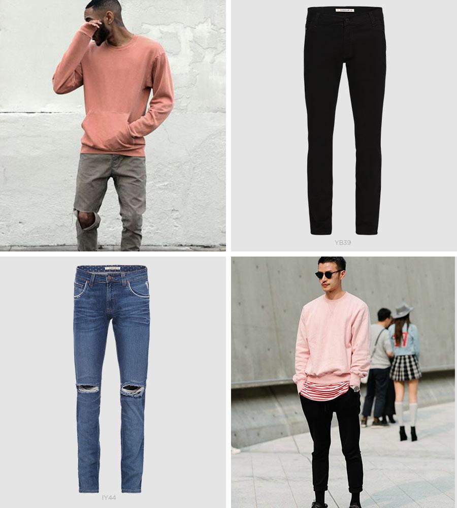 millennial pink em looks masculinos