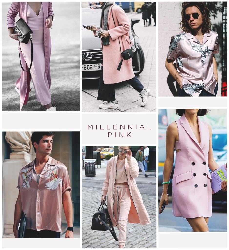 street style millennial pink