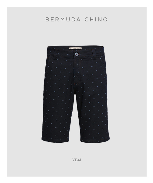 Bermuda chino masculina