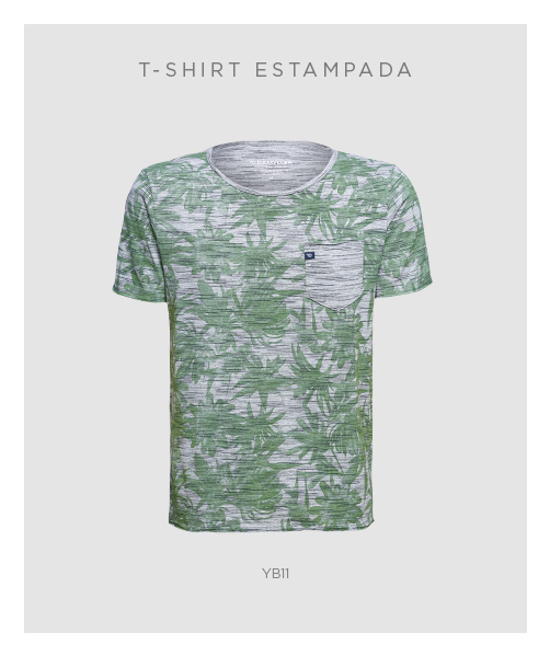 -shirt estampada masculina