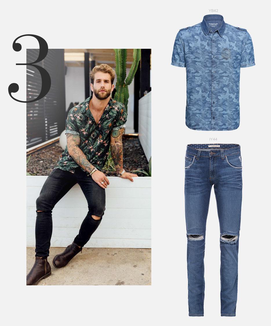camisa e jeans masculino