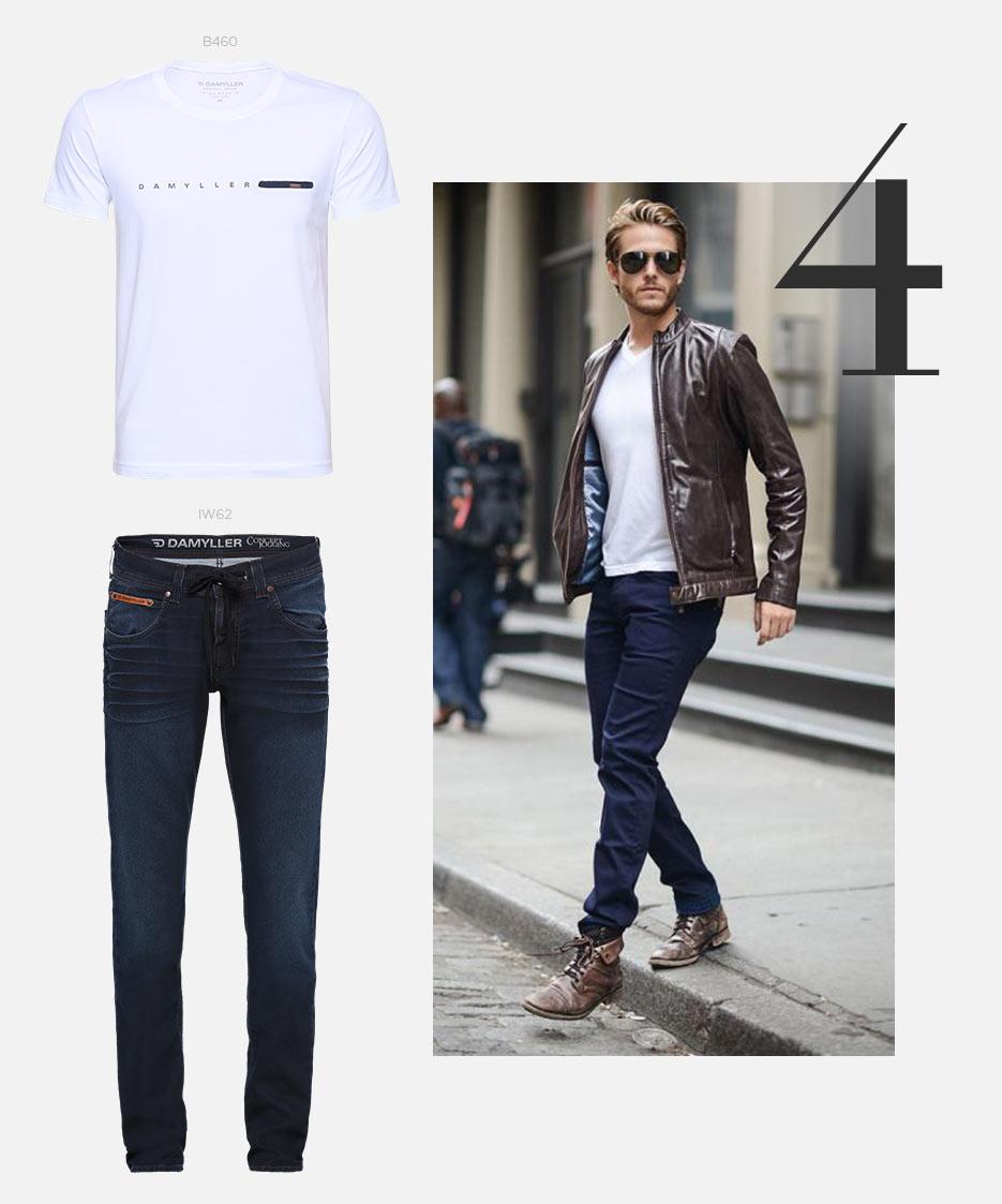 camiseta e jeans masculino