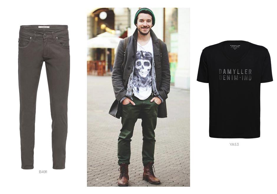 coturno e jeans masculino