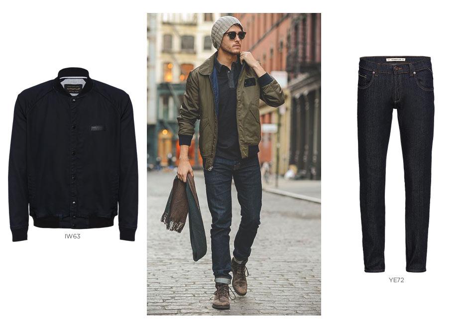 jeans e jaqueta bomber masculina