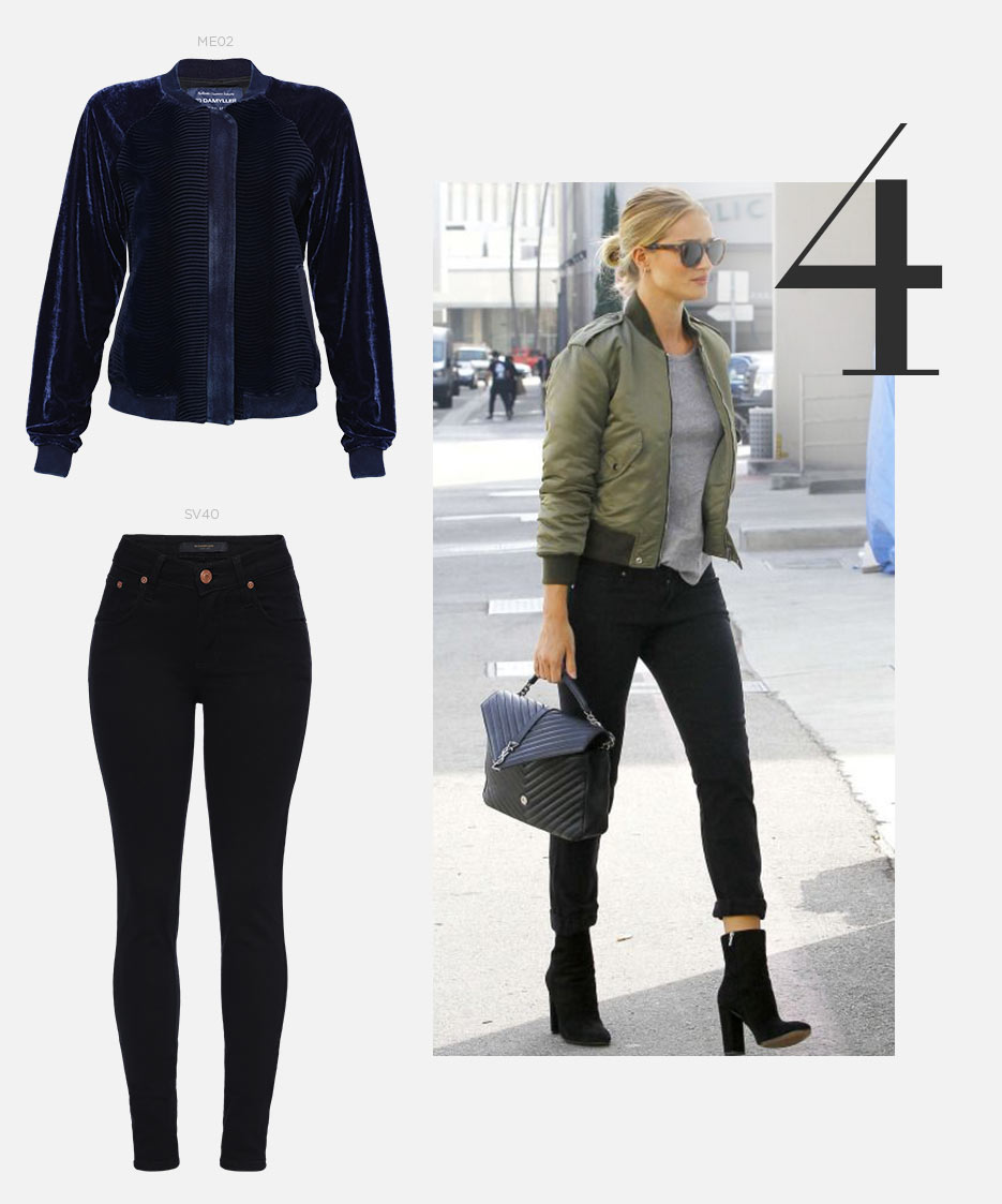 jeans e jaqueta bomber