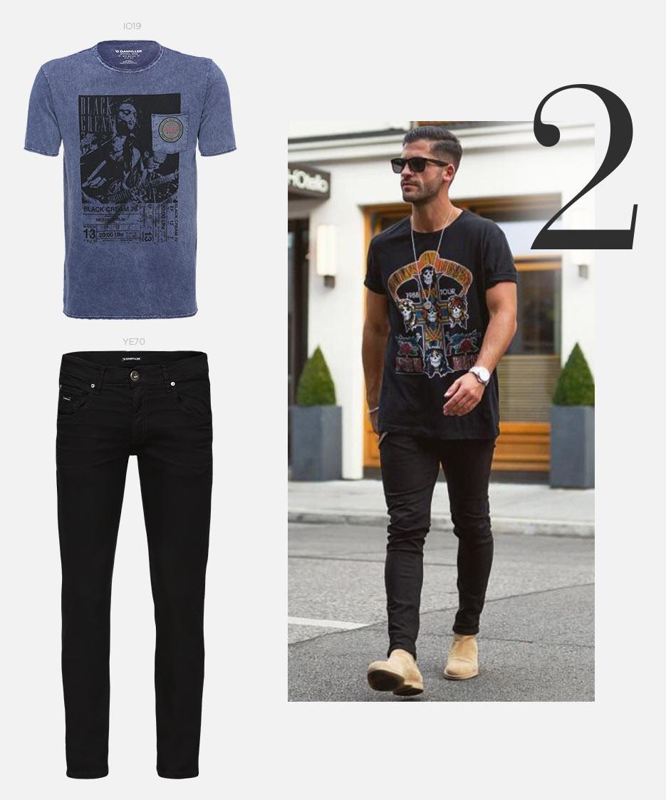 t-shirt e jeans masculino