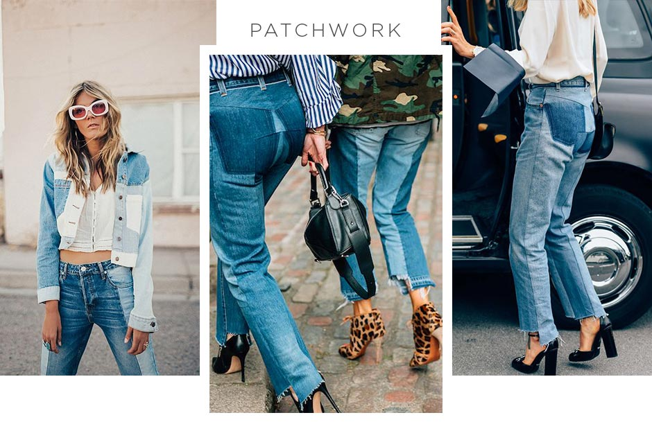 jeans com patchwork
