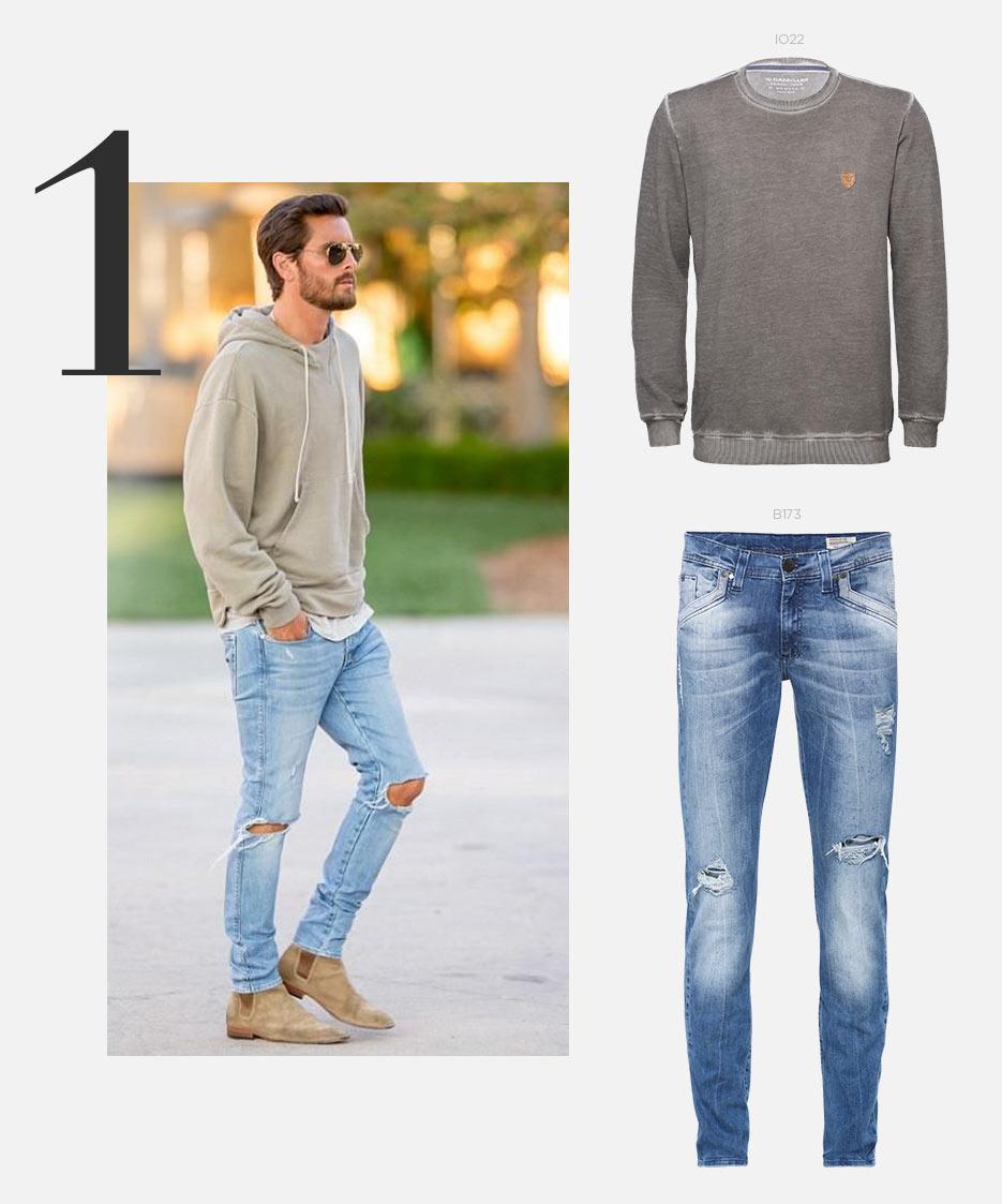 moletom e jeans masculino