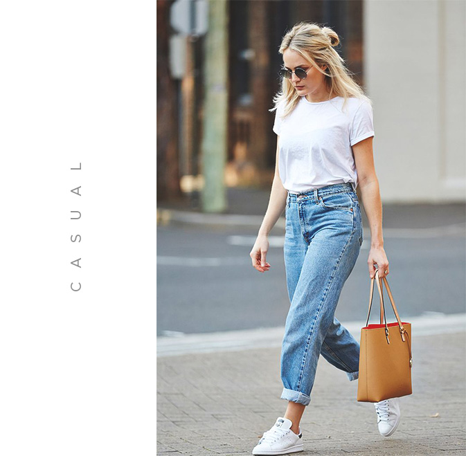 look casual com mom jeans